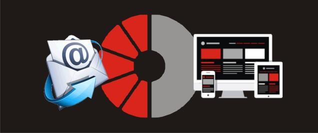 Distribucion del espacio entre correos corporativos  y pagina web