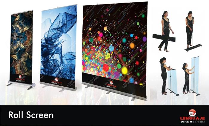 Roll Screen Publicitario Diseño e Impresion