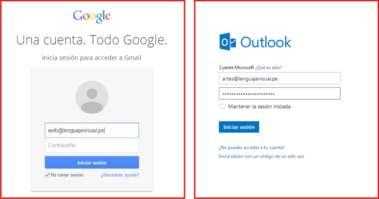 Correos Corporativos en Gmail y Hotmail