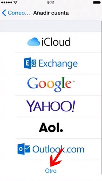 configurar correo en iphone-4