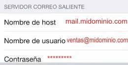 configurar correo en iphone9